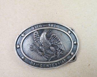 1776 - 1996 Bi-Centennial Eagle Clutching Arrows Belt Buckle Made in USA