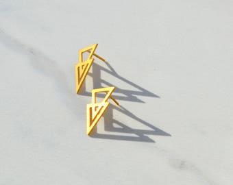 Geometric Minimalist Stud Earrings