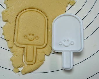 Smiling Ice Bar Cookie Cutter and Stamp