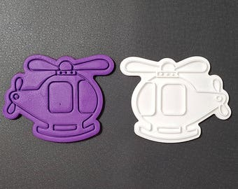 Helicopter Cookie Cutter and Stamp