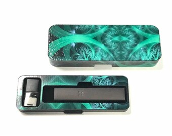 PAX era Vape travel case Green Abstract 4 design case
