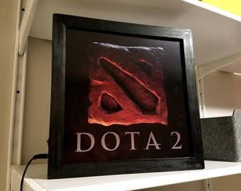 DOTA 2 Defense of the Anchients Arcade Style Marquee Light Box