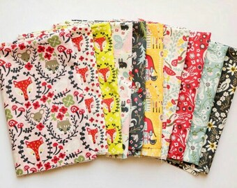 Birch Folkland POPLIN - Organic Cotton Fabric - Fabric Bundle from Folkland Collection - 10 prints