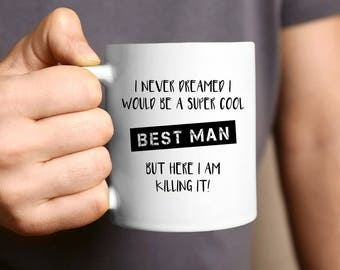 Best Man Gift, Best Mate, Best Man Proposal, Bucks Party, Stag Night, Groomsmen Gift, Coffee Mug, Gift For Him, Groomsman, Bridal Party Gift