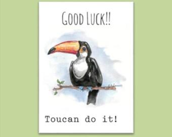 Good Luck card (Toucan)