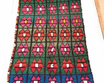 Fabuleus Berber boucharouit 9 × 5.3 feet / 276 × 160 cm moroccan  rug