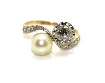 Antique 1900 diamonds and Pearl ring
