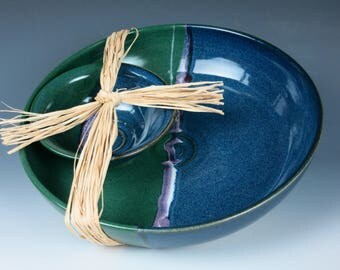 ceramic bowl set, chip and dip, fruit bowl,salad bowl, handmade pottery bowls, appetizer dish,bowls,snack dish,ceramic serving dish