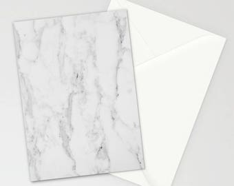 Marble Collection: Marble Stationary, White Gray Marble, White Marble, Contemporary Elegant Stationary Cards, Stationary Set, Thank You Card