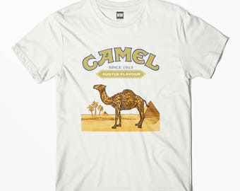 Camel Cigarettes White Vintage Look T-Shirt - S M L XL