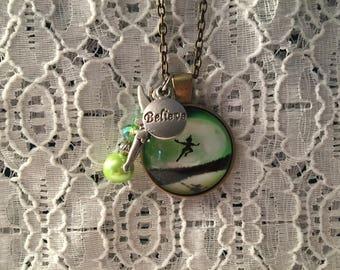 Peter Pan Charm Necklace/Peter Pan Necklace/Peter Pan Pendant/Peter Pan Jewerly