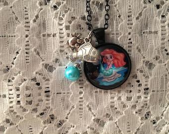 Little Mermaid Charm Necklace/Little Mermaid Pendant/Little Mermaid Jewelry/Ariel Jewelry/Ariel Necklace/Ariel Pendant/Ariel