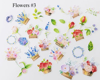 Cute Stickers, flowers stickers, Kawaii Panda Planner Decoration, Scrapbooking Stationery Planner Supply Decorative