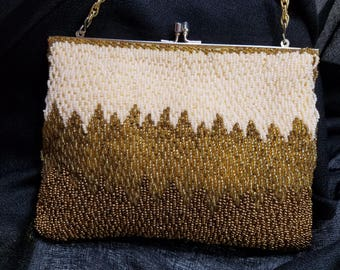 Gorgeous Beaded Evening Clutch with Hidden Chain