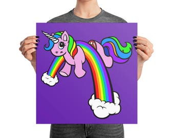 Halfricorn Photo paper poster