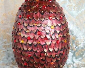 Dragon Egg / Large / Game of Thrones Dragon Egg  / Mother of Dragons / Drogon Egg / Christmas Gift / Collectors Gift