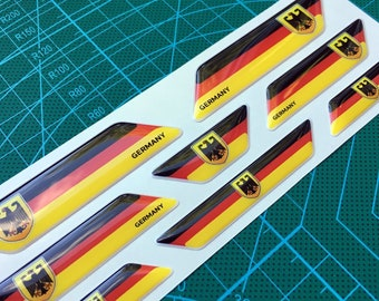 German flag 3D domed emblems