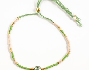 Miyuki and green amethyst bracelet