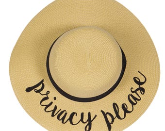 Privacy Please Embroidered Floppy Hat