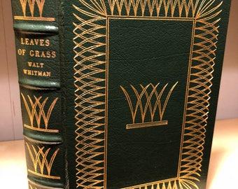 Easton Press Leaves of Grass by Walt Whitman 100 Greatest