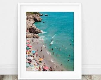 Beach Photography Aerial - Aerial Beach Photography - People on the Beach Art - Aerial Beach Photo - Aerial Photography - Beach Photography