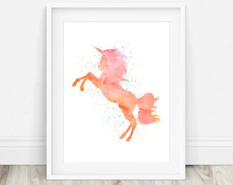 Unicorn Printable - Unicorn Poster, Unicorn Print, Nursery Decor, Girls Room Art, Unicorn Room Decor, Unicorn Nursery Print, Nursery Print