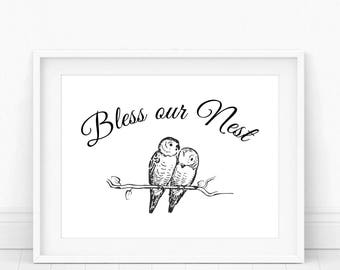 Bless Our Nest - Bless Our Nest Sign, Our Nest, Bless Our Home, Our Nest Sign, Bless This Nest, Bless Our House, Bless Us, Printable Art