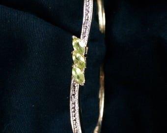 Sterling Silver 925 & Peridot Bracelet