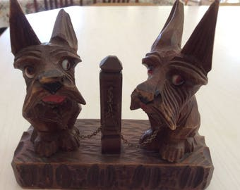 Vintage Wooden Scotties
