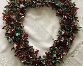 "20"" Christmas Fabric Wreath"