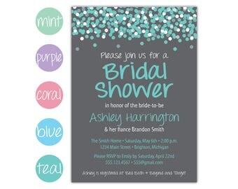 Bridal Shower Invitation | Wedding Shower Invitation | Printable Shower Invitation