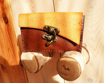 Elven style leather wallet