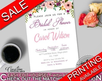 Invitation Bridal Shower Invitation Watercolor Flowers Bridal Shower Invitation Bridal Shower Watercolor Flowers Invitation White And 9GOY4