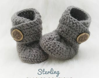 Crochet Dapper Baby Booties-Baby Boy Clothes - Baby Photo Prop - Newborn Baby Booties - Newborn Girl Coming Home Outfit - Baby Girl Shoes -