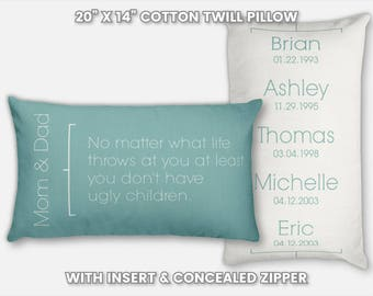 Parent Christmas Gifts for Parents Gift Christmas Pillow Custom Parents Birthday Gifts Parents Christmas Personalized Gifts for Parents