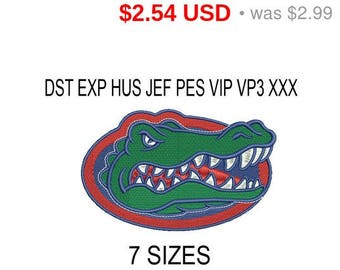 TODAY SALE 15% Florida Gators embroidery design logo / embroidery designs / INSTANT download machine embroidery pattern