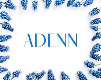Adenn Sans Serif Typeface