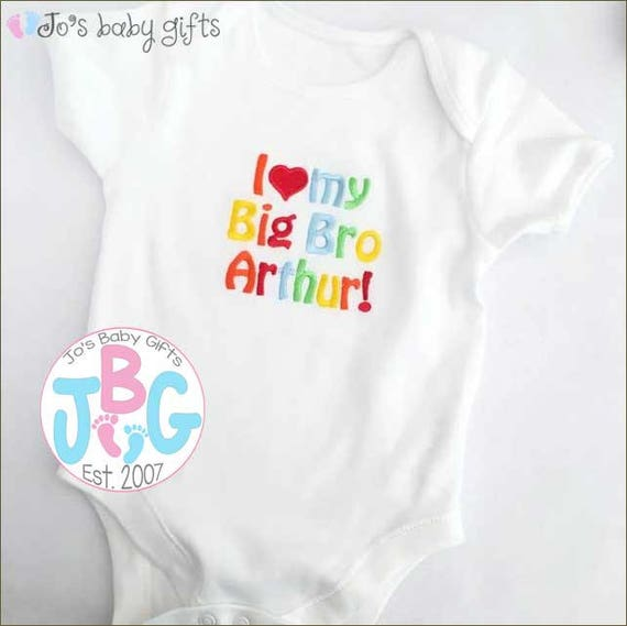 Personalised Baby Vest/Bodysuit, Embroidered text, add any wording to this vest