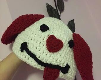 Valentine Puppy hat
