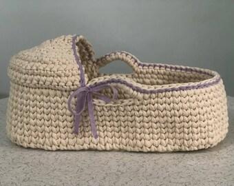 Crochet Pattern Baby Moses Basket Baby Crochet Pattern Crochet