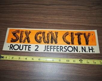 Six Gun City Vintage advertising card tourism roadside america New Hampshire