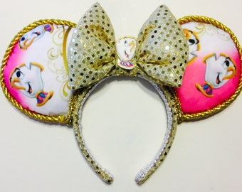 Beauty and the Beast - Cheerful Chip ears