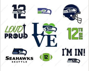 Seattle Seahawks Svg football party Svg Dxf Eps Png Ai Digital File design Print Mug Shirt Decal