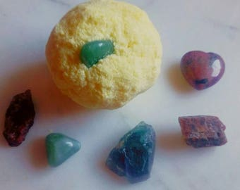 Large Crystal mystery surprise essential oil bath bomb