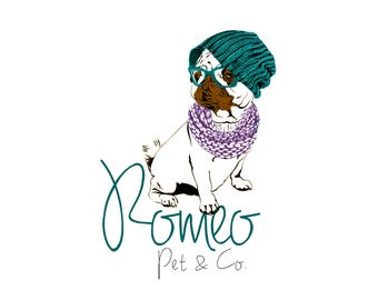 Handmade Logo, Custom Logo Design, Designer Logo, handcrafted logo, cafe logo, pets logo, hand drawn logo, business logo