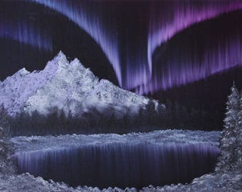 Northern Lights - Bob Ross Inspired Landscape Painting