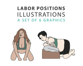 6 Labor Positions Illustration Set - EXTRA USE LICENSE