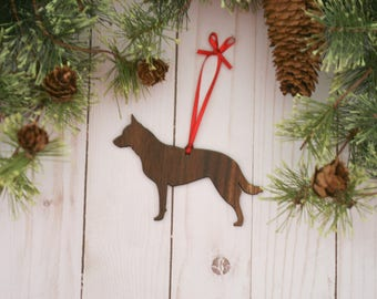 Customizable Australian Cattle Dog Christmas Tree Ornament | Personalized Dog Ornament