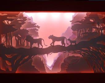 "Abracadabox - Lightbox - ""Panda's spirit"""