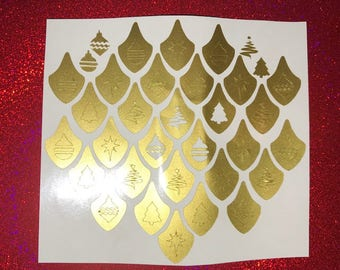 Holiday Tree Nail Vinyls
